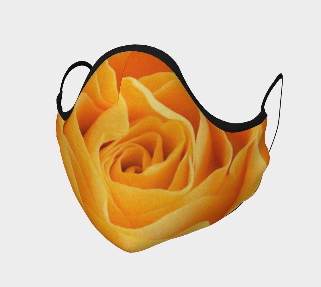 Face Mask Light Orange Rose, AOWSGD
