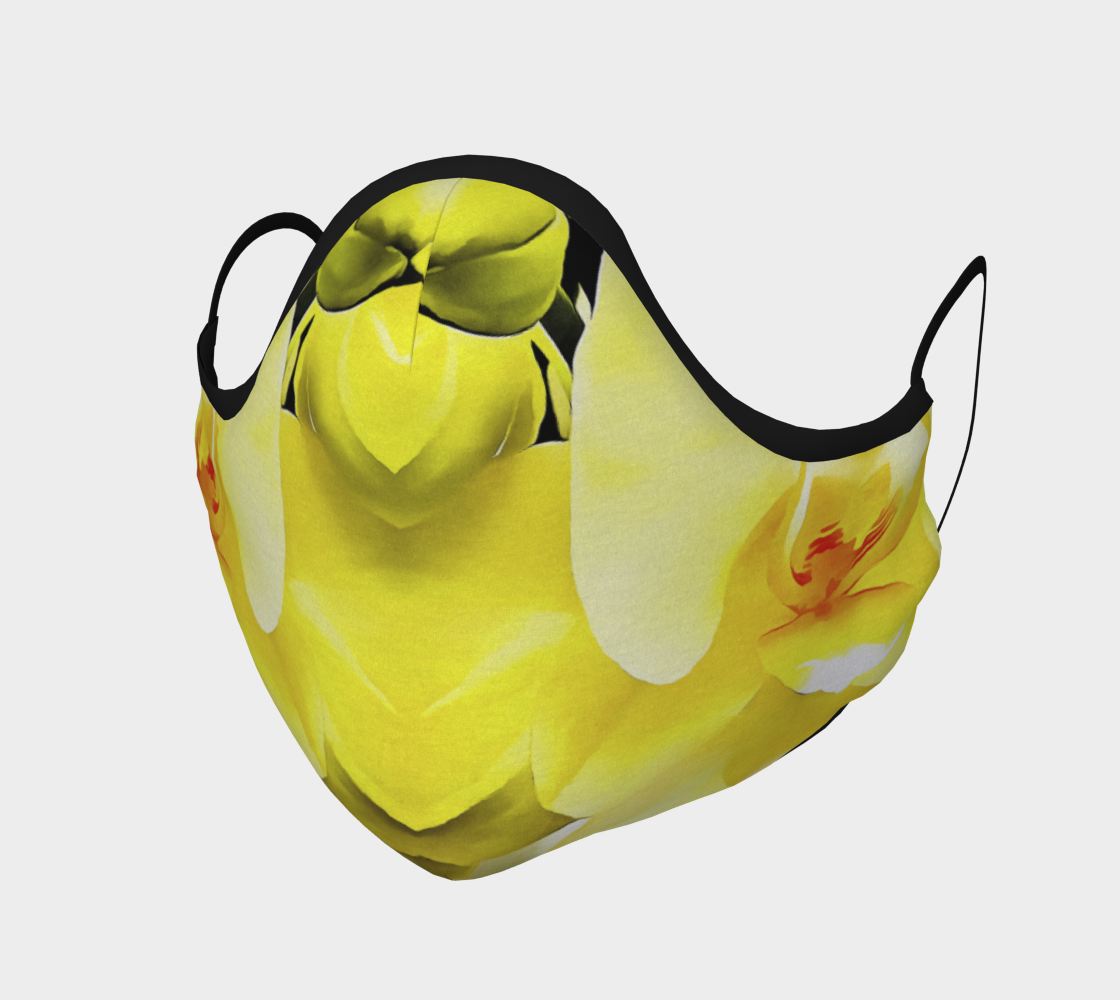 Yellow Orchid Face Covering preview