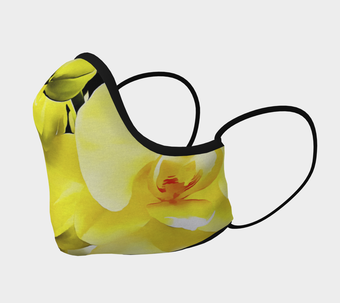 Yellow Orchid Face Covering preview #2