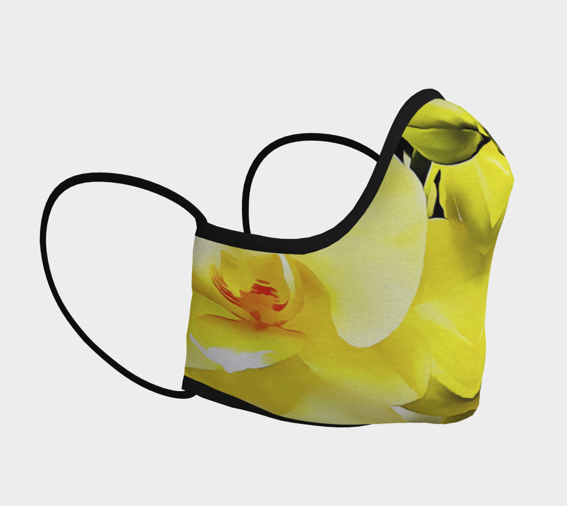 Yellow Orchid Face Covering preview #3
