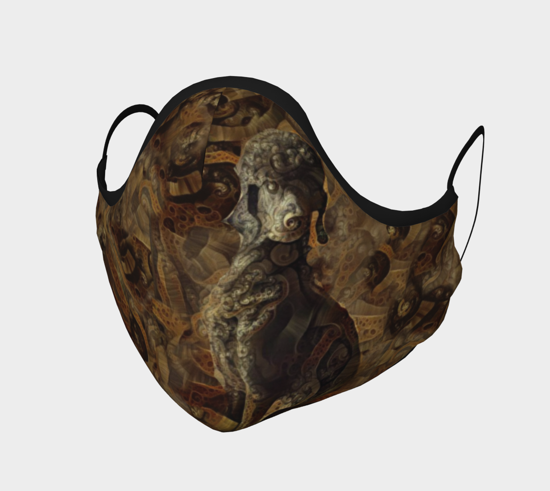 Pristine Standard Poodle Onyx - Mask preview