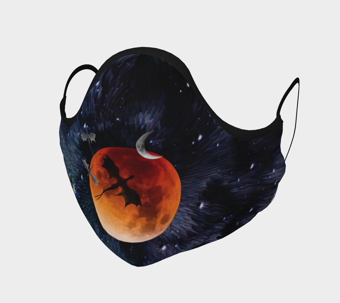 Aperçu de Dragon Galaxy Moon Protective Face Mask by VCD ©