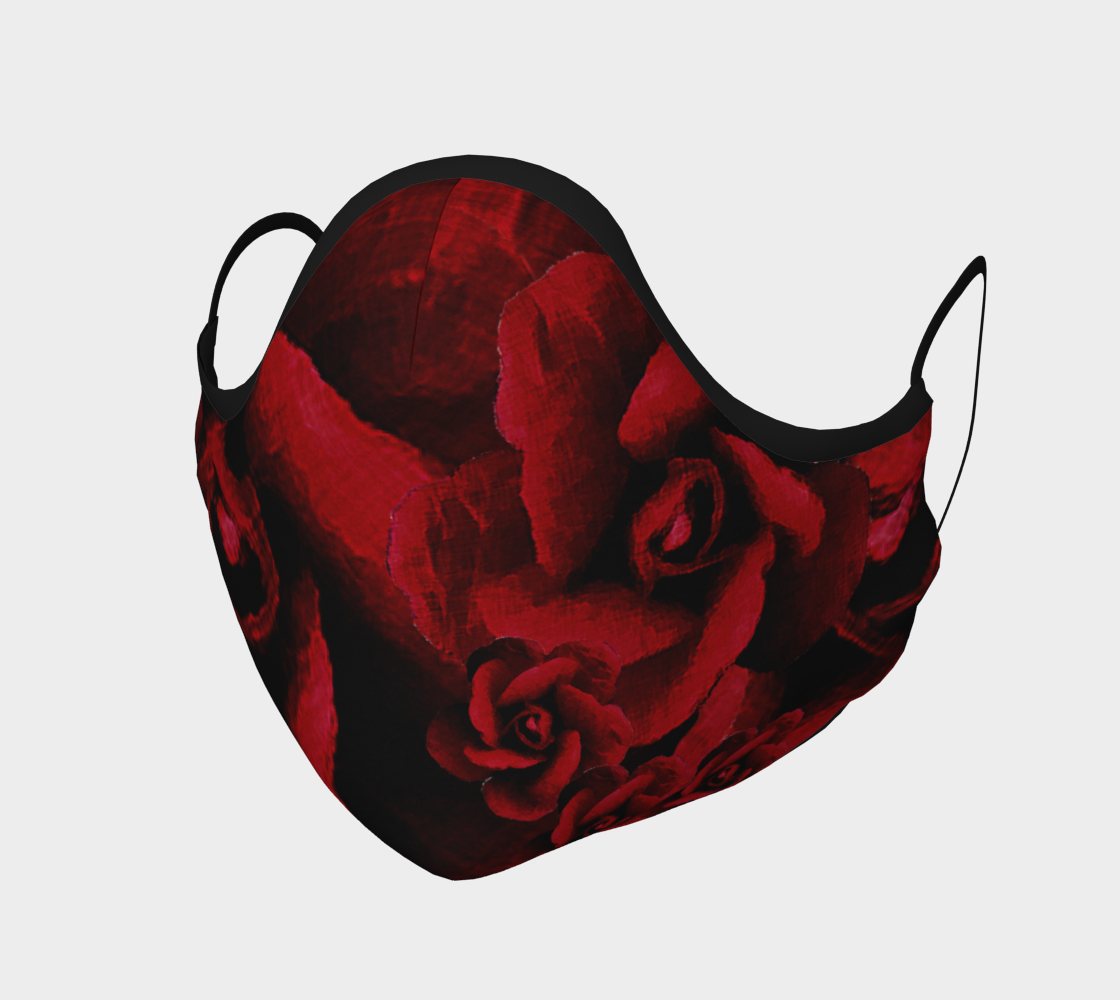 Aperçu de Red Roses Protective Face Mask by VCD ©