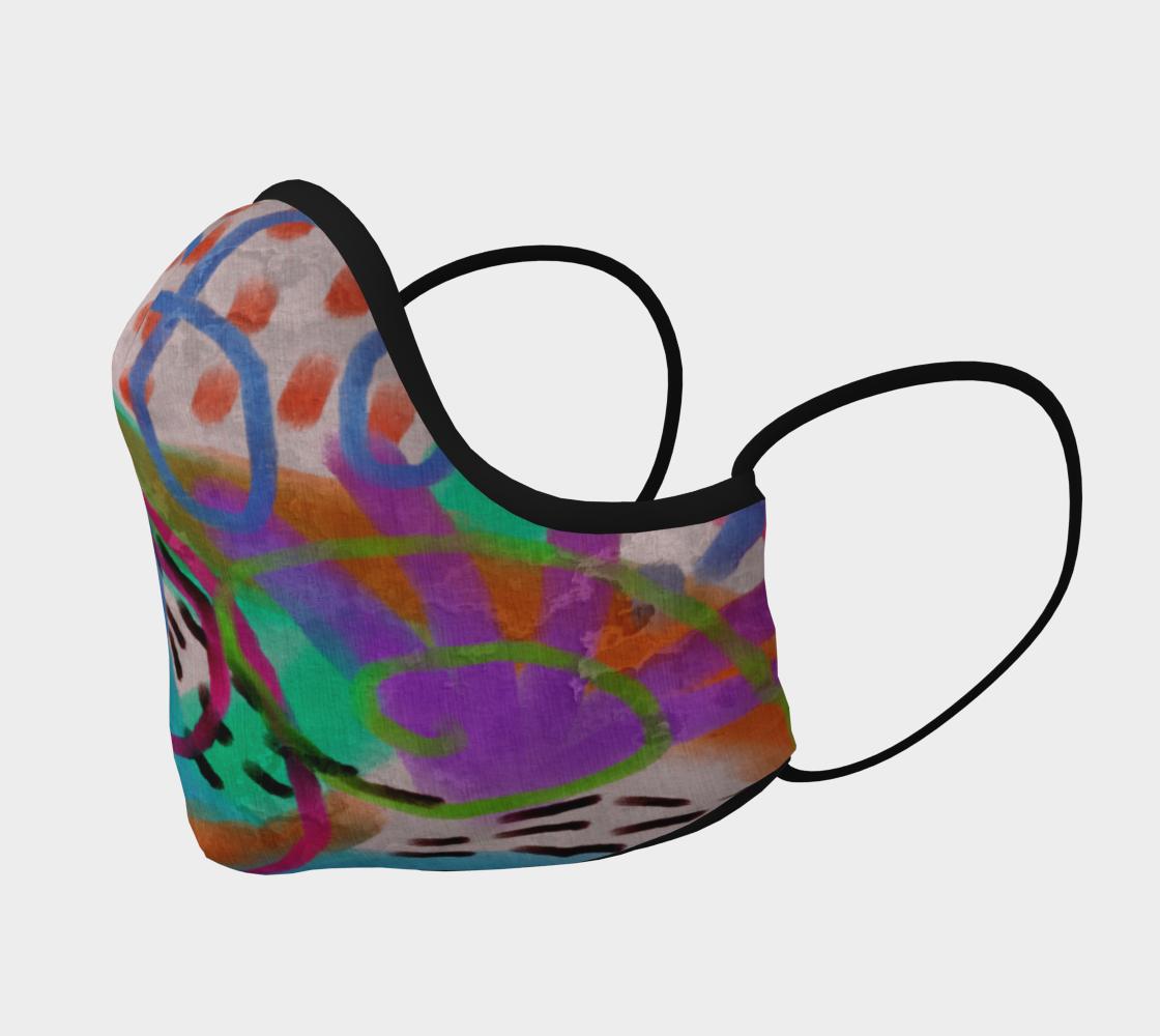 Aperçu de Colorful Abstract Art Face Mask #2