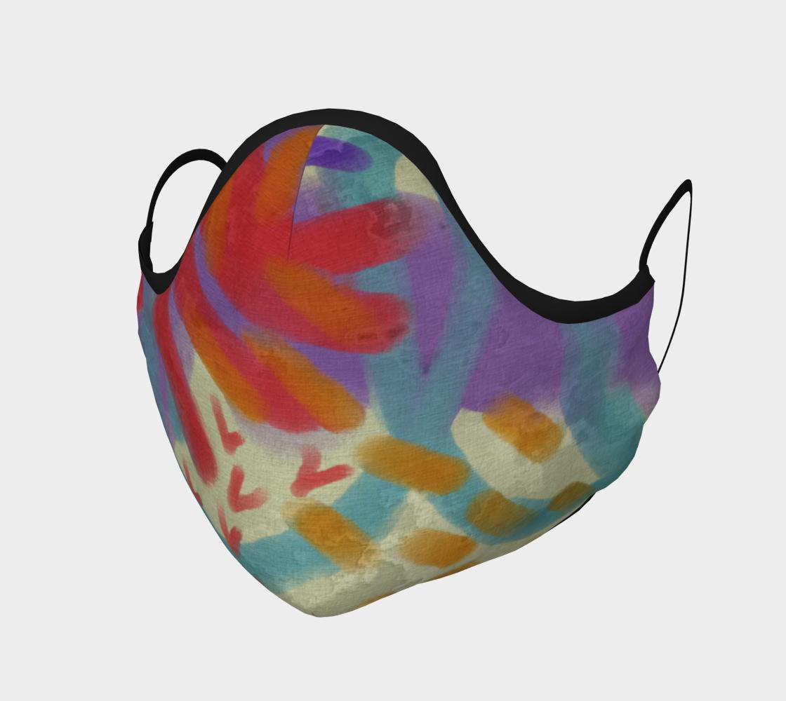 Aperçu de Funky Abstract Art Face Mask