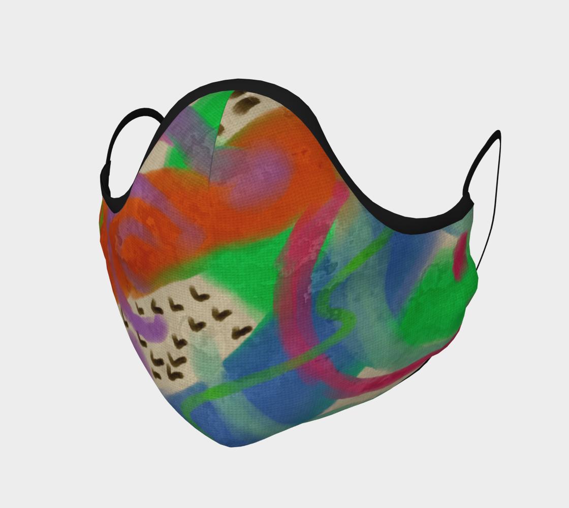 Aperçu de Funky Abstract Art Face Mask #1