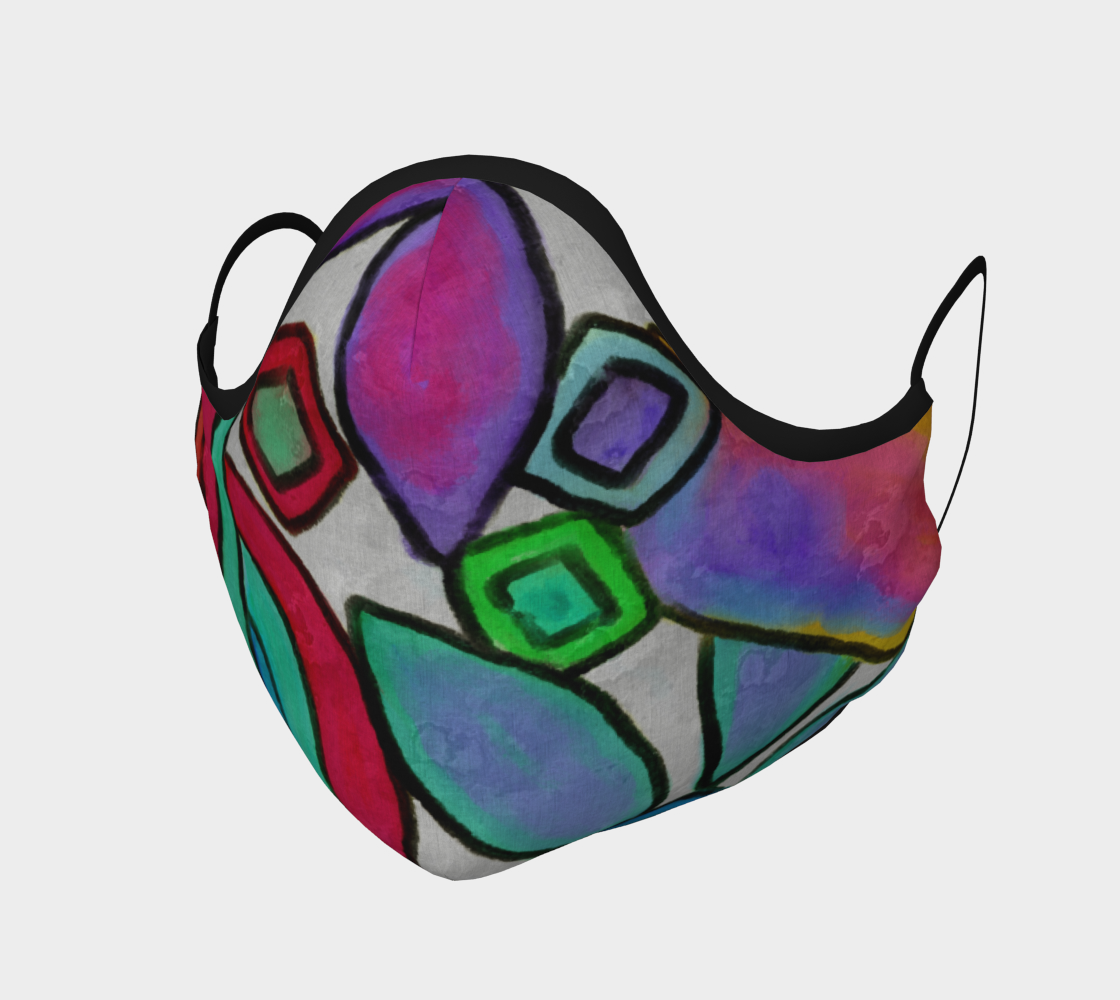 Aperçu de Colorful Abstract Art Face Mask #1