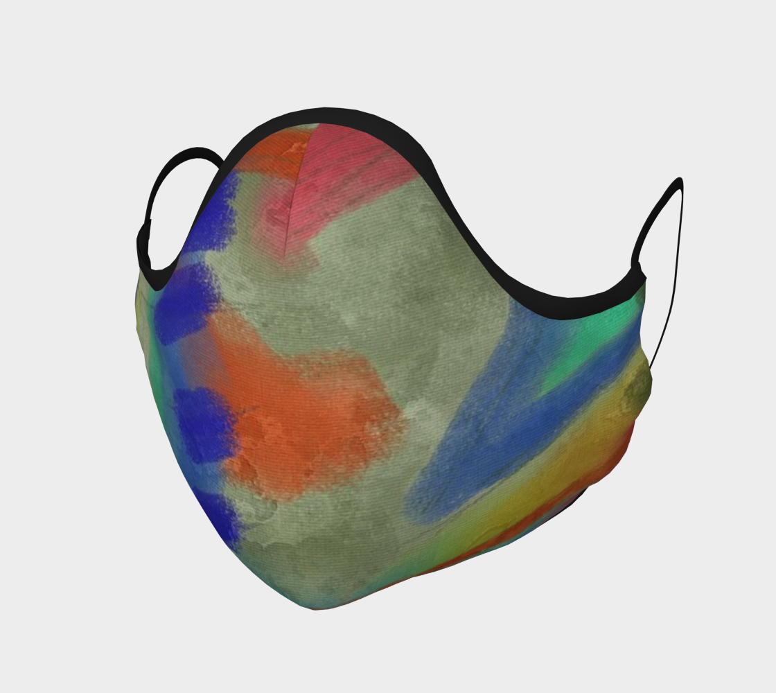 Funky Abstract Art Face Mask Miniature #2