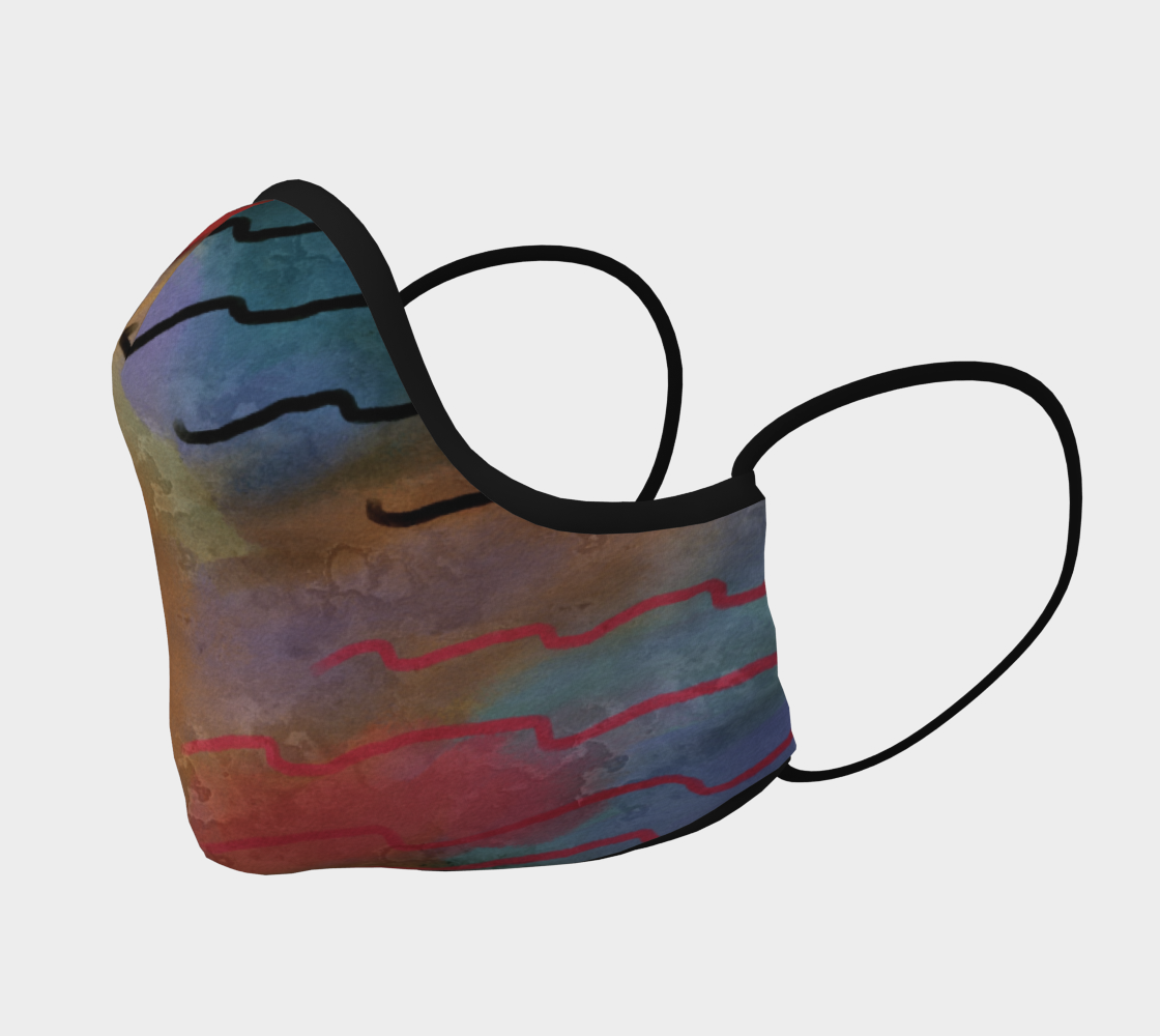 Aperçu de Original Abstract Art Face Mask #2