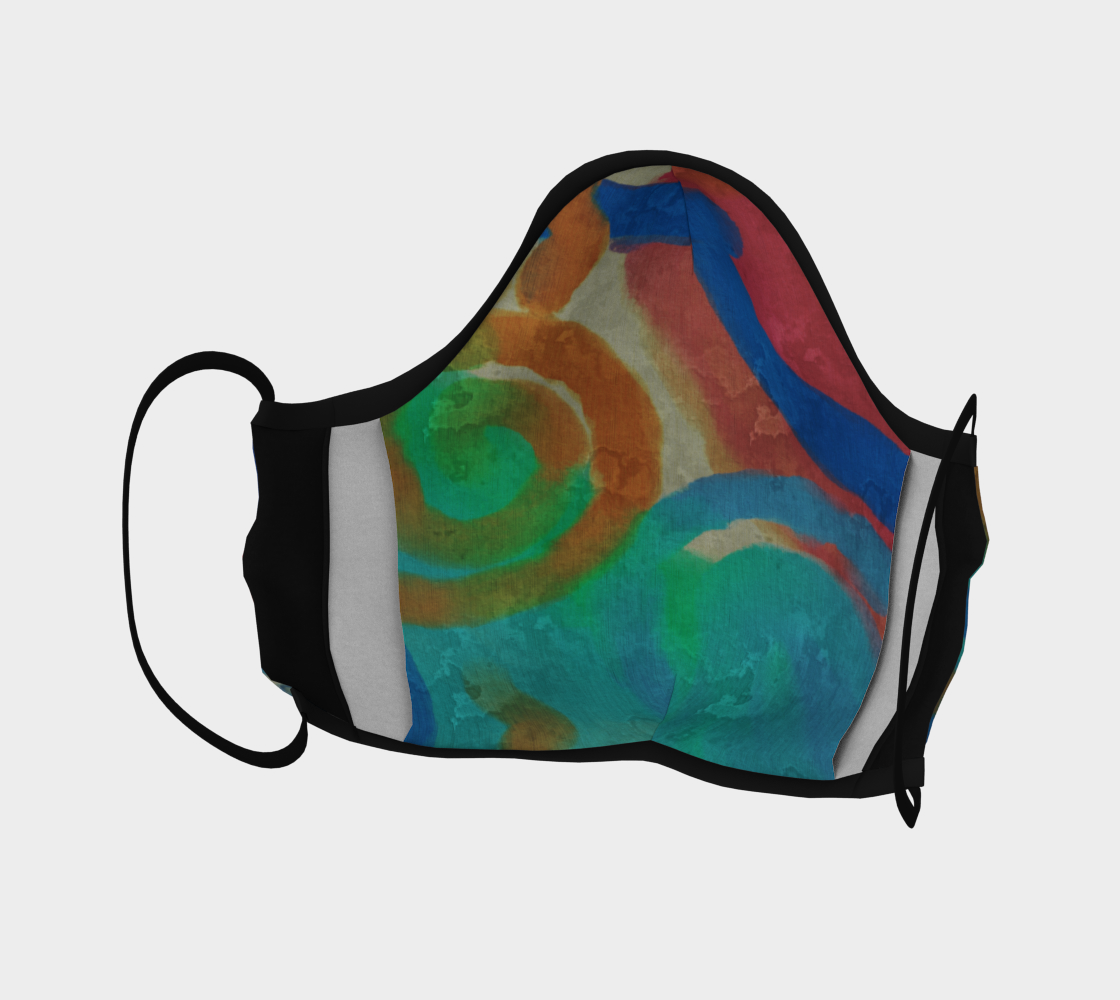 Colorful Abstract Art Face Mask Miniature #5