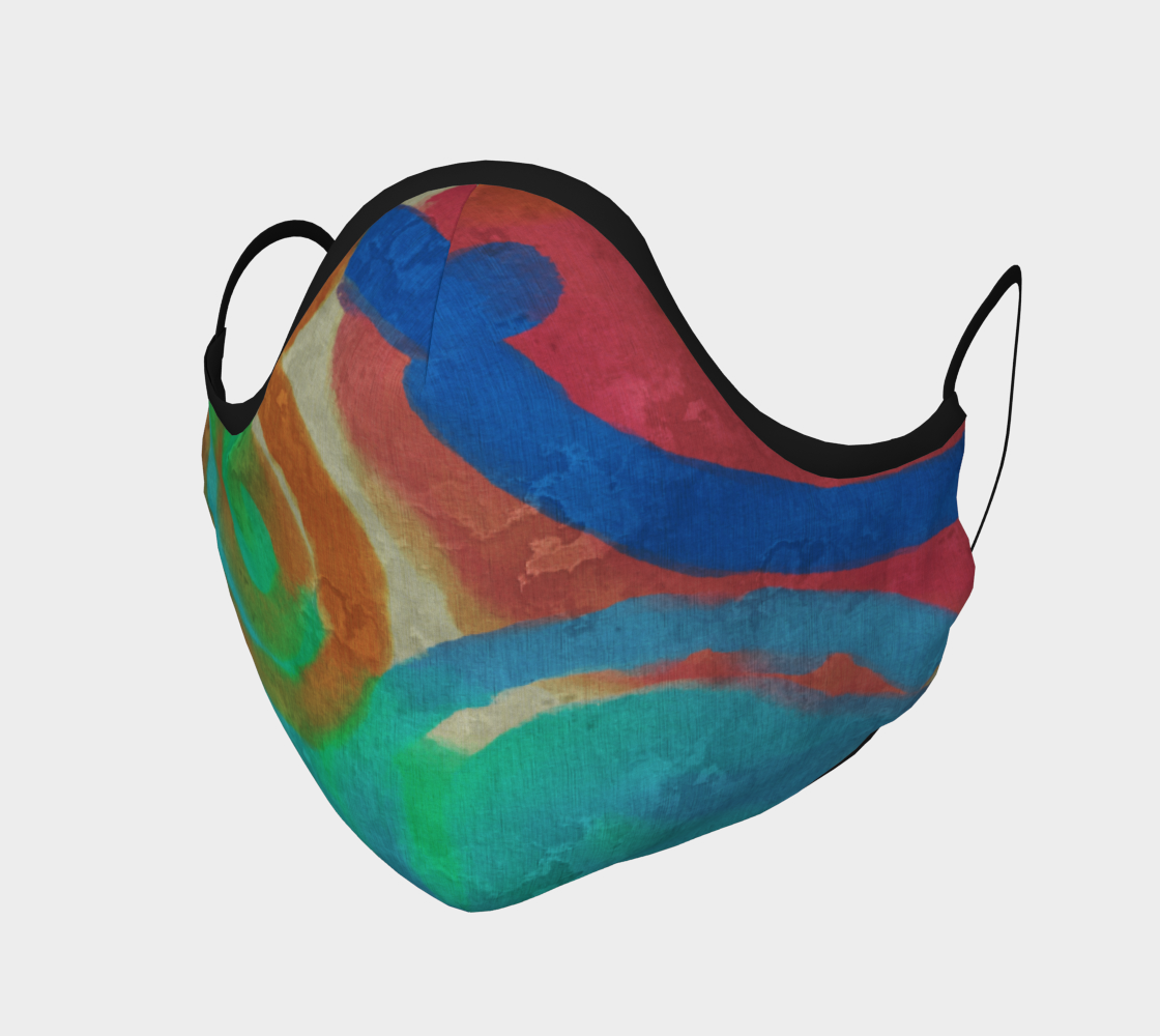 Colorful Abstract Art Face Mask Miniature #2