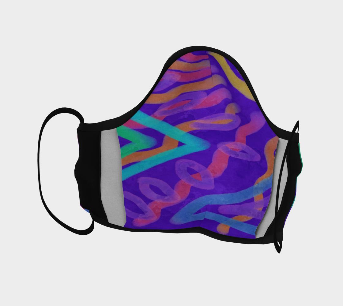 Aperçu de Colorful Abstract Art Face Mask #4