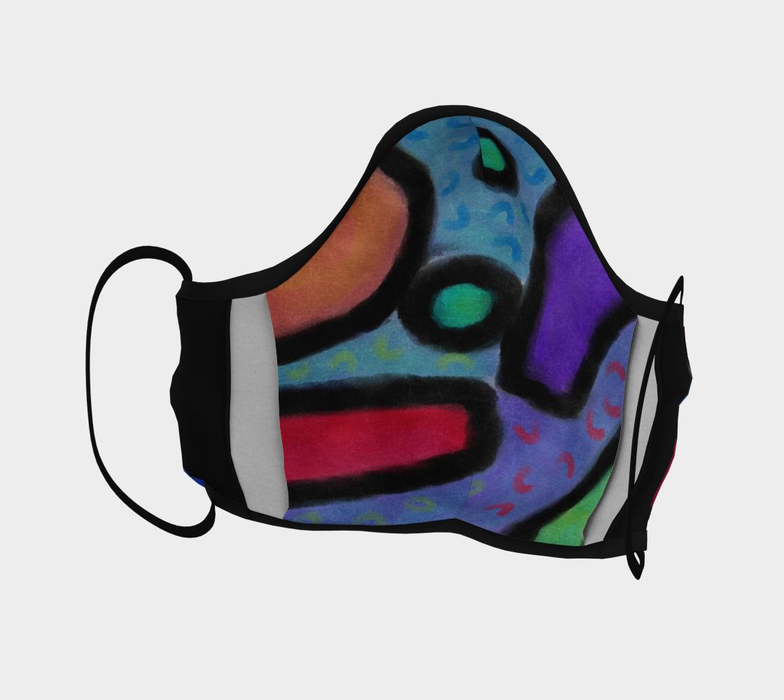 Aperçu de Funky Abstract Art Face Mask #4