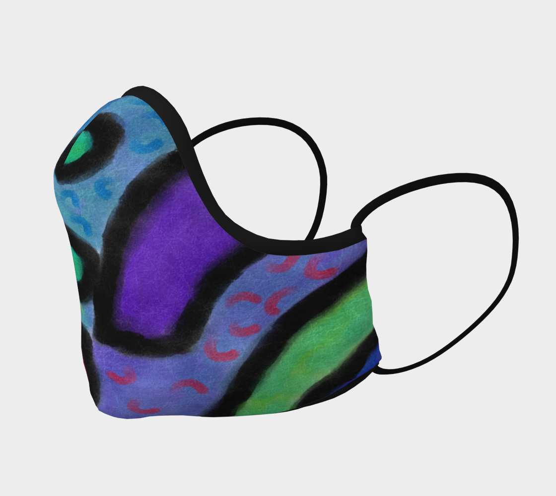 Aperçu de Funky Abstract Art Face Mask #2