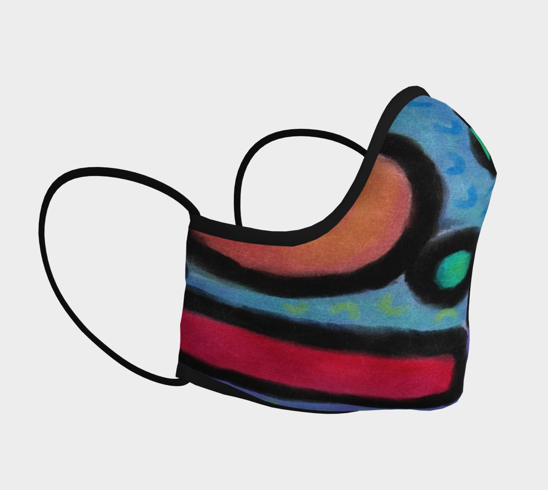Aperçu de Funky Abstract Art Face Mask #3
