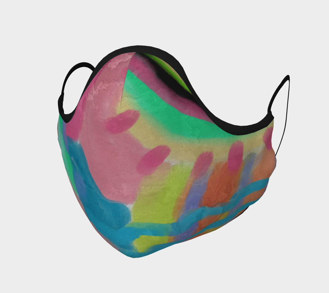Aperçu de Funky Abstract Art Face Mask