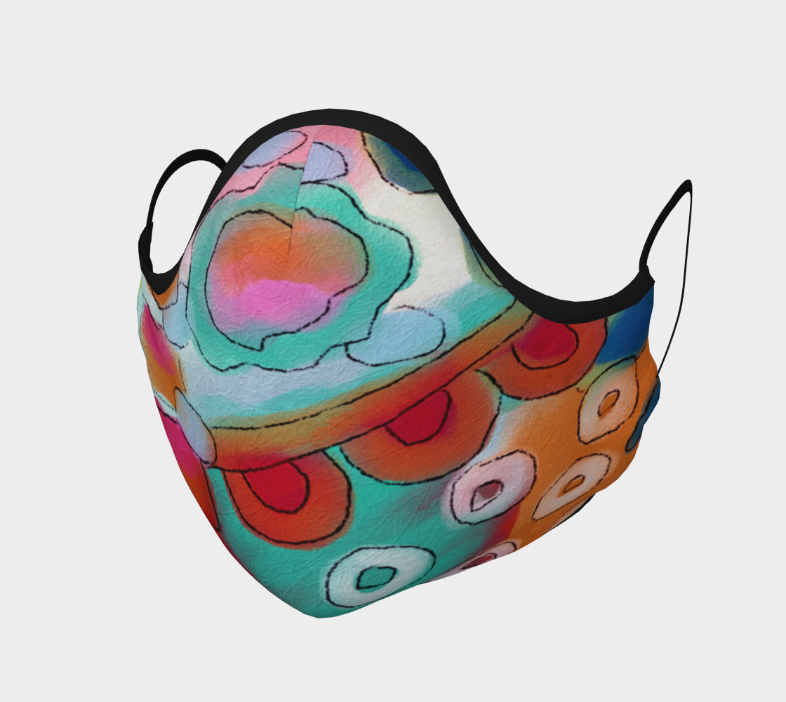 Aperçu de Colorful Abstract Art Face Mask