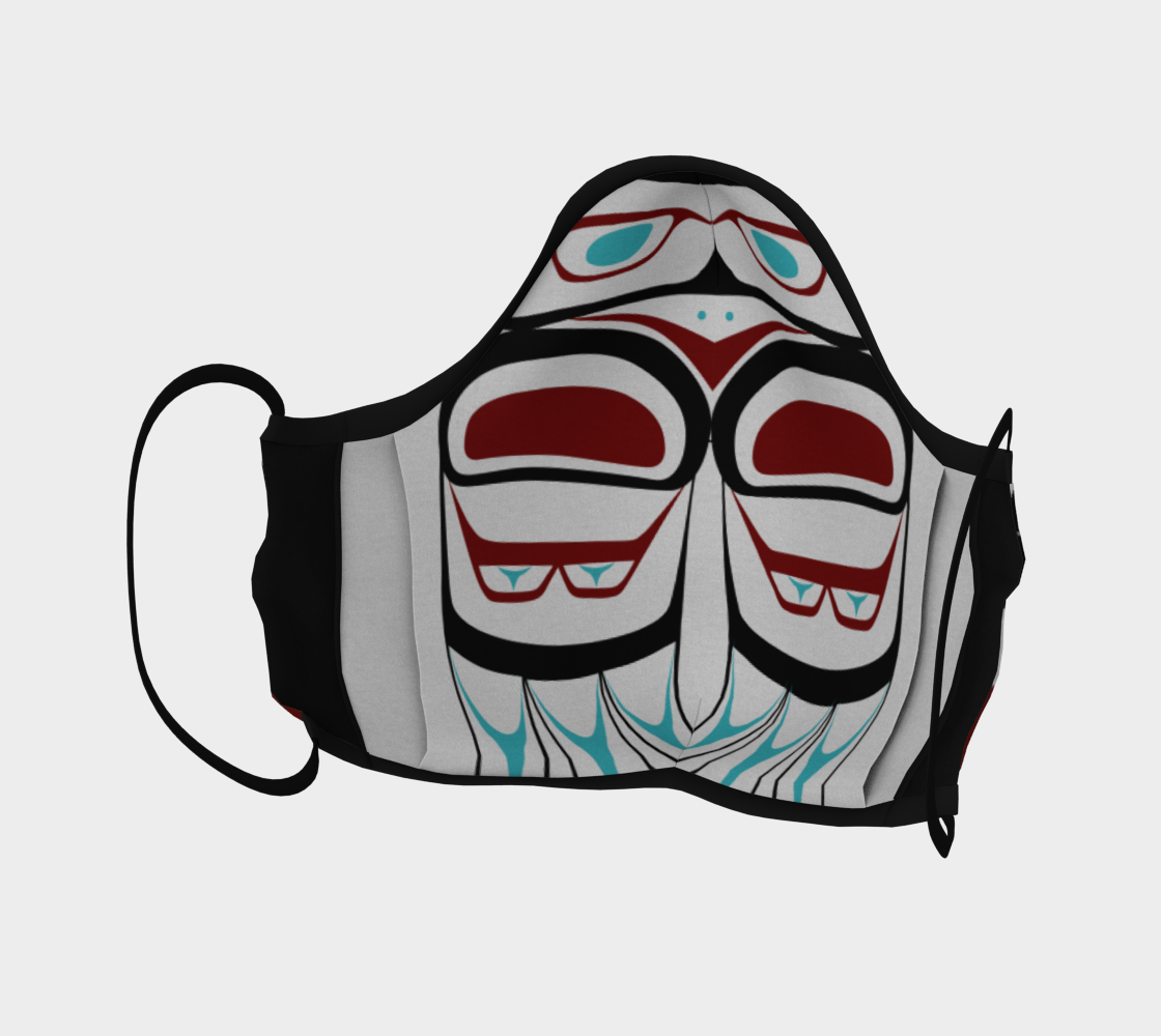 Warrior Owl Pacific Northwest Formline Face Mask Revised Layout preview #4