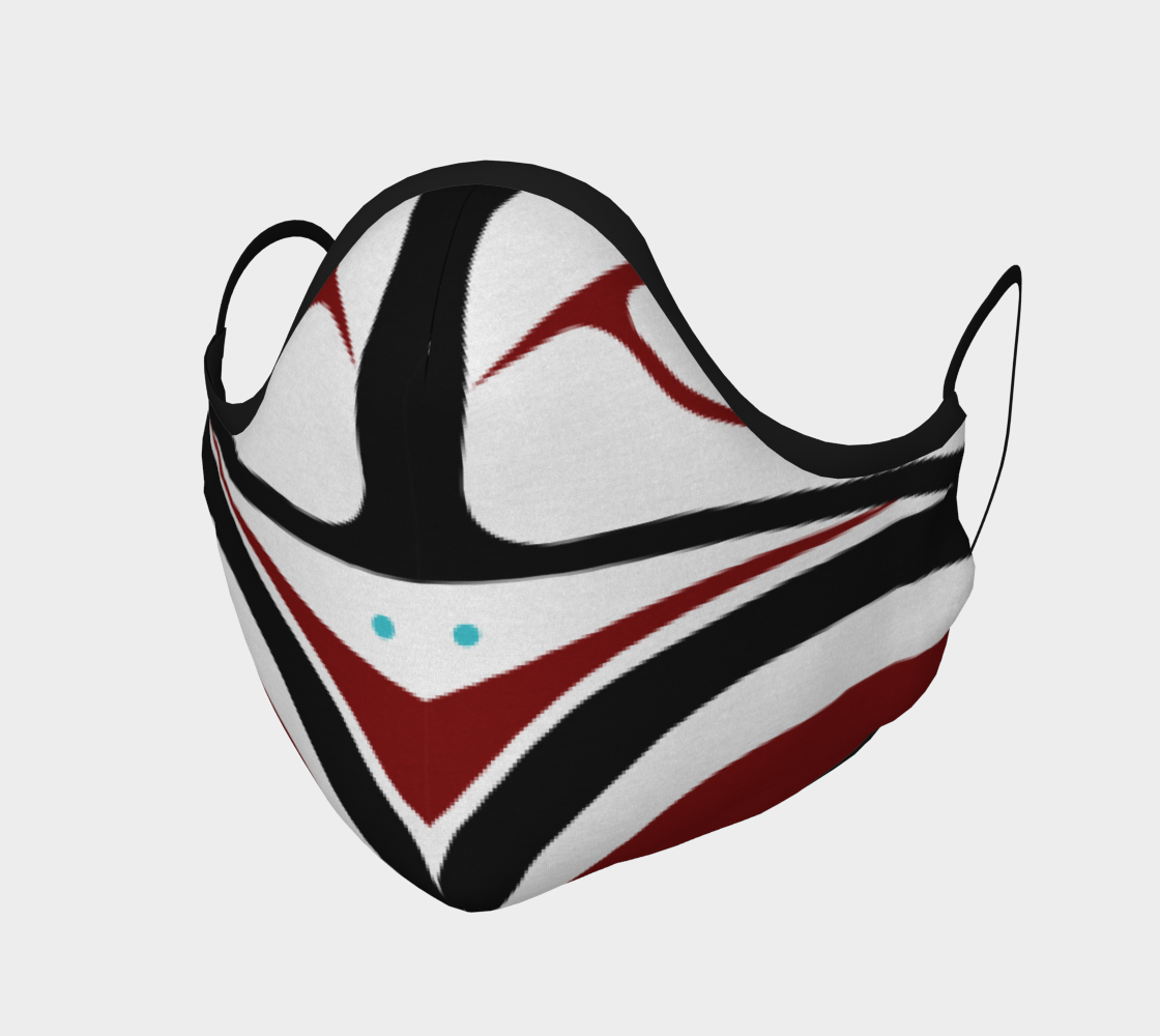 Warrior Owl Pacific Northwest Formline Face Mask Revised Layout preview #1