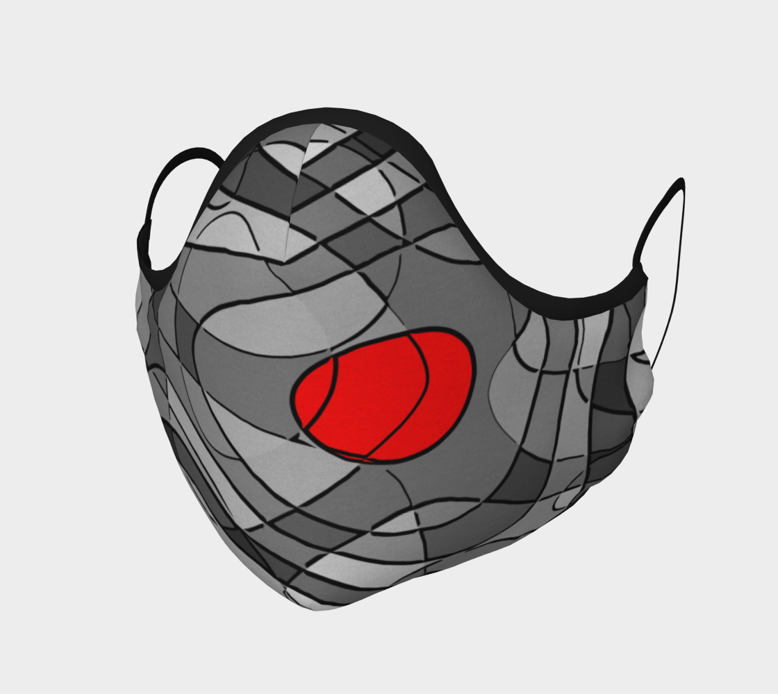 Pop Art Squiggly Loops - Grey Mix Red preview