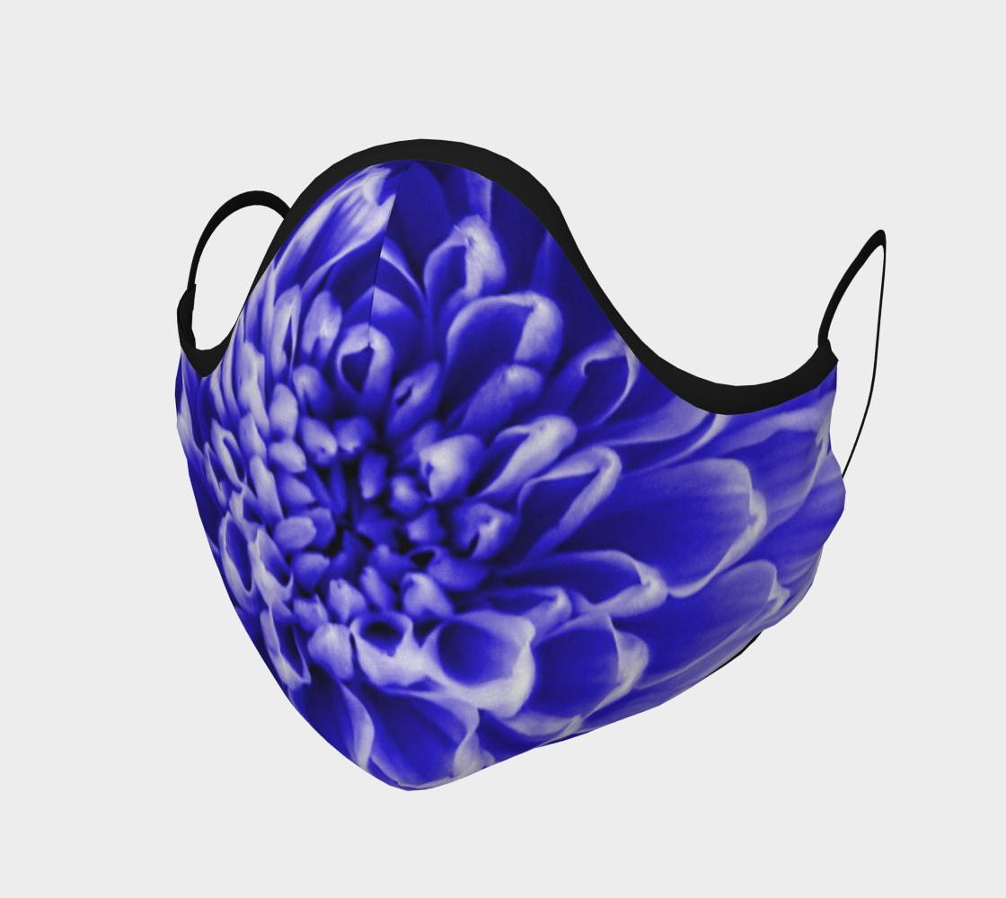 Aperçu de Blue Chrysanthemum Face Mask