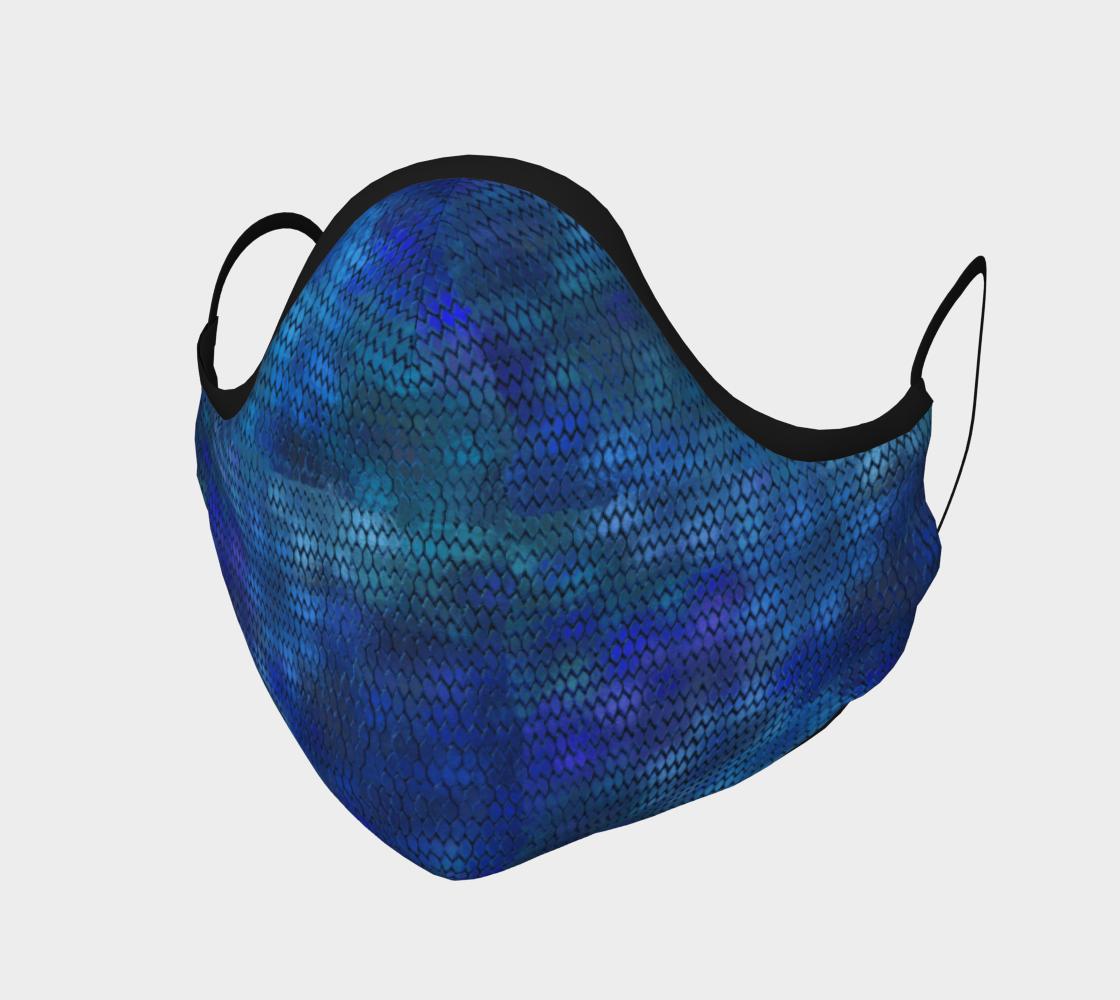 Aperçu de Blue Dragon Scales Face Mask