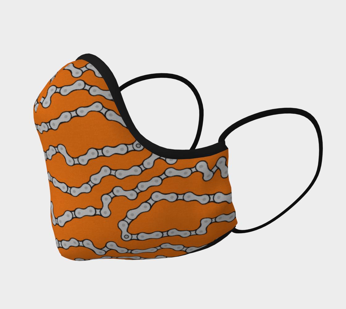 Aperçu de Bike Chain Face mask - Orange #2
