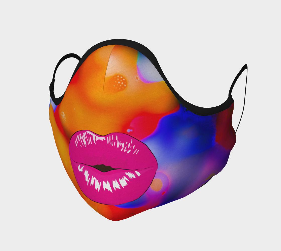 Aperçu de Orange Kisses Face Cover