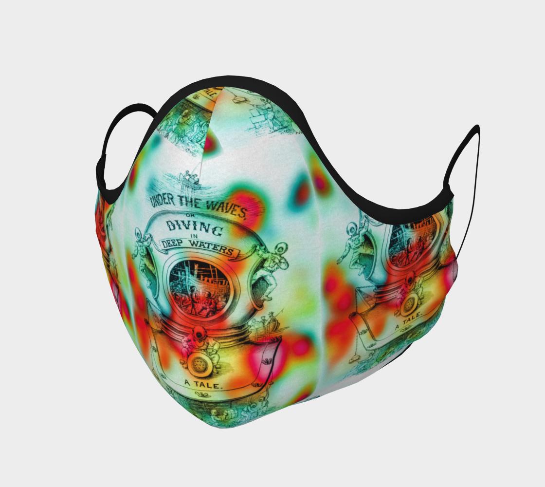 Aperçu de Under the Waves Cotton Face Mask
