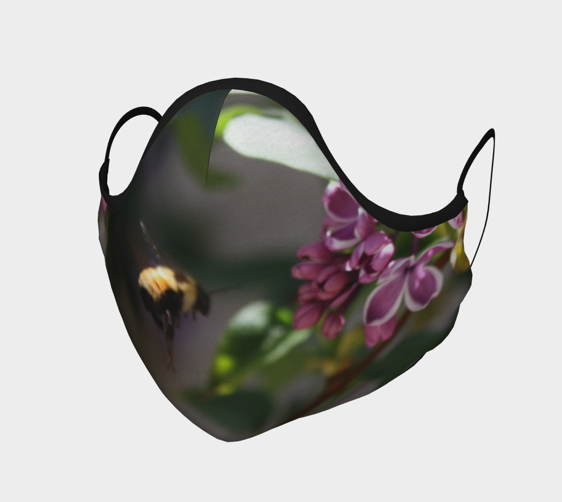 Bumble Bee Flying into Lilacs  preview