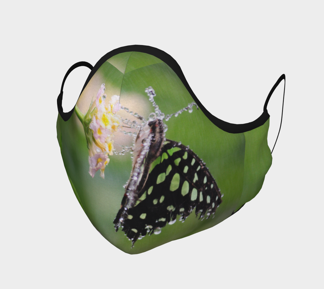 Green Butterfly with Droplets preview