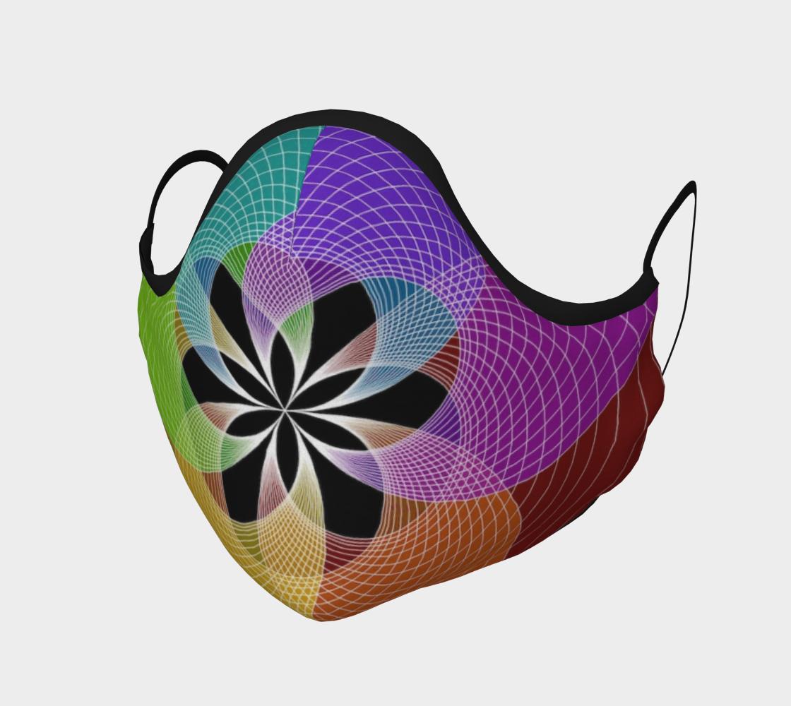 Rainbow Mandala Face Mask  preview