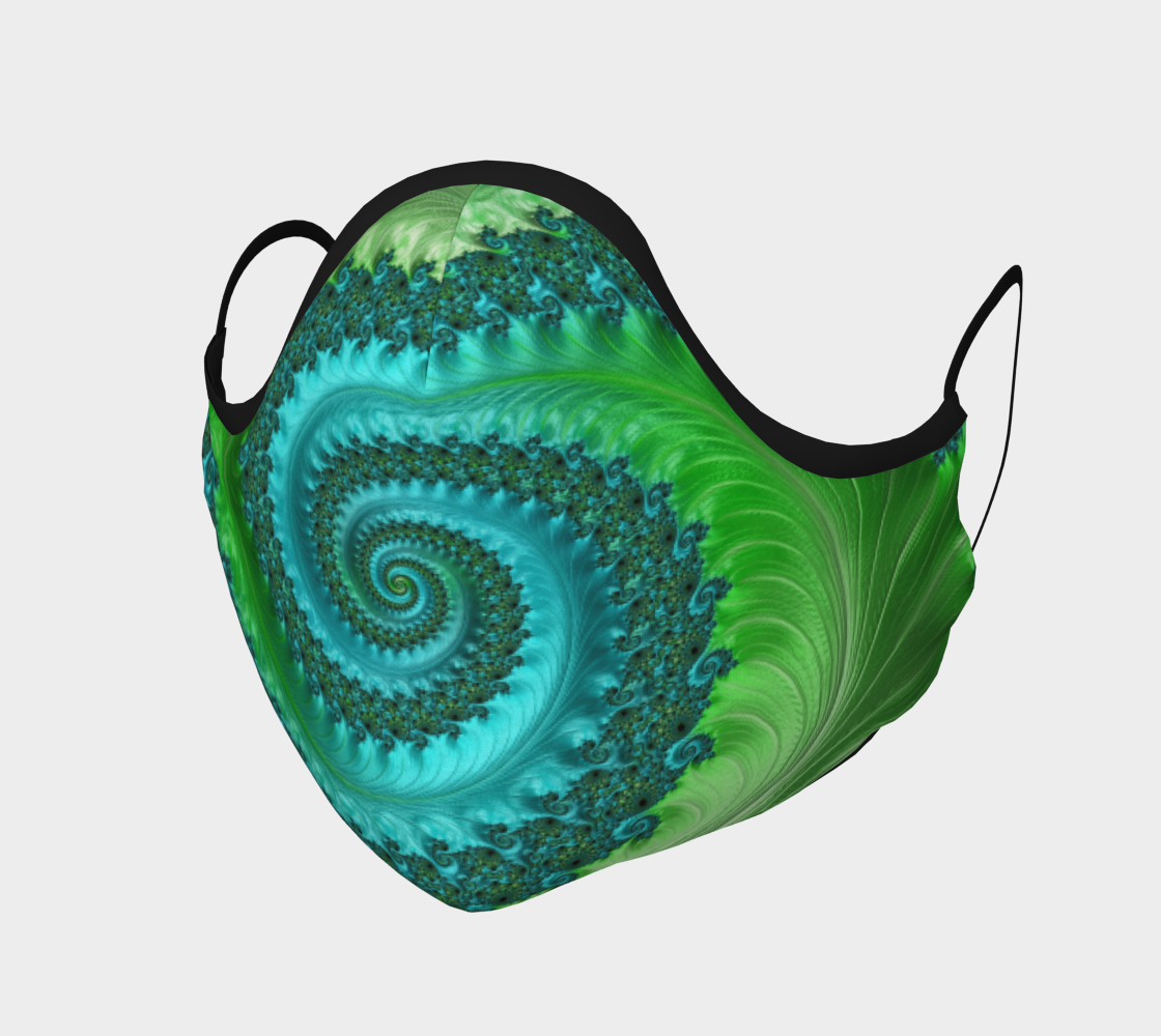 Feathery Flow Green Face Mask  preview
