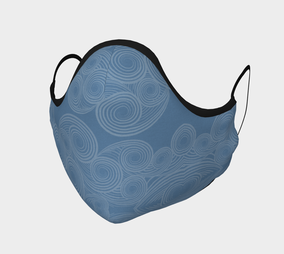 Swirly Light Blue Face Mask preview