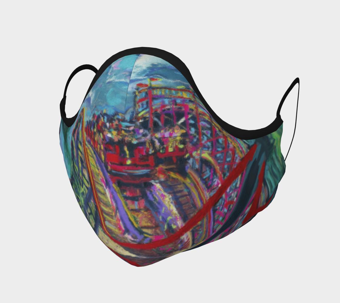 Racing Coaster Fanatical-Fan Face Mask preview #1