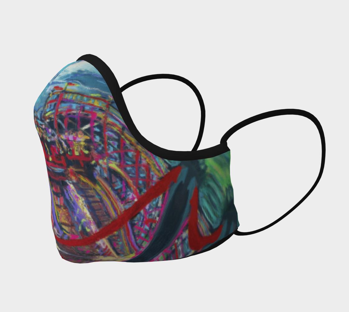 Racing Coaster Fanatical-Fan Face Mask preview #2
