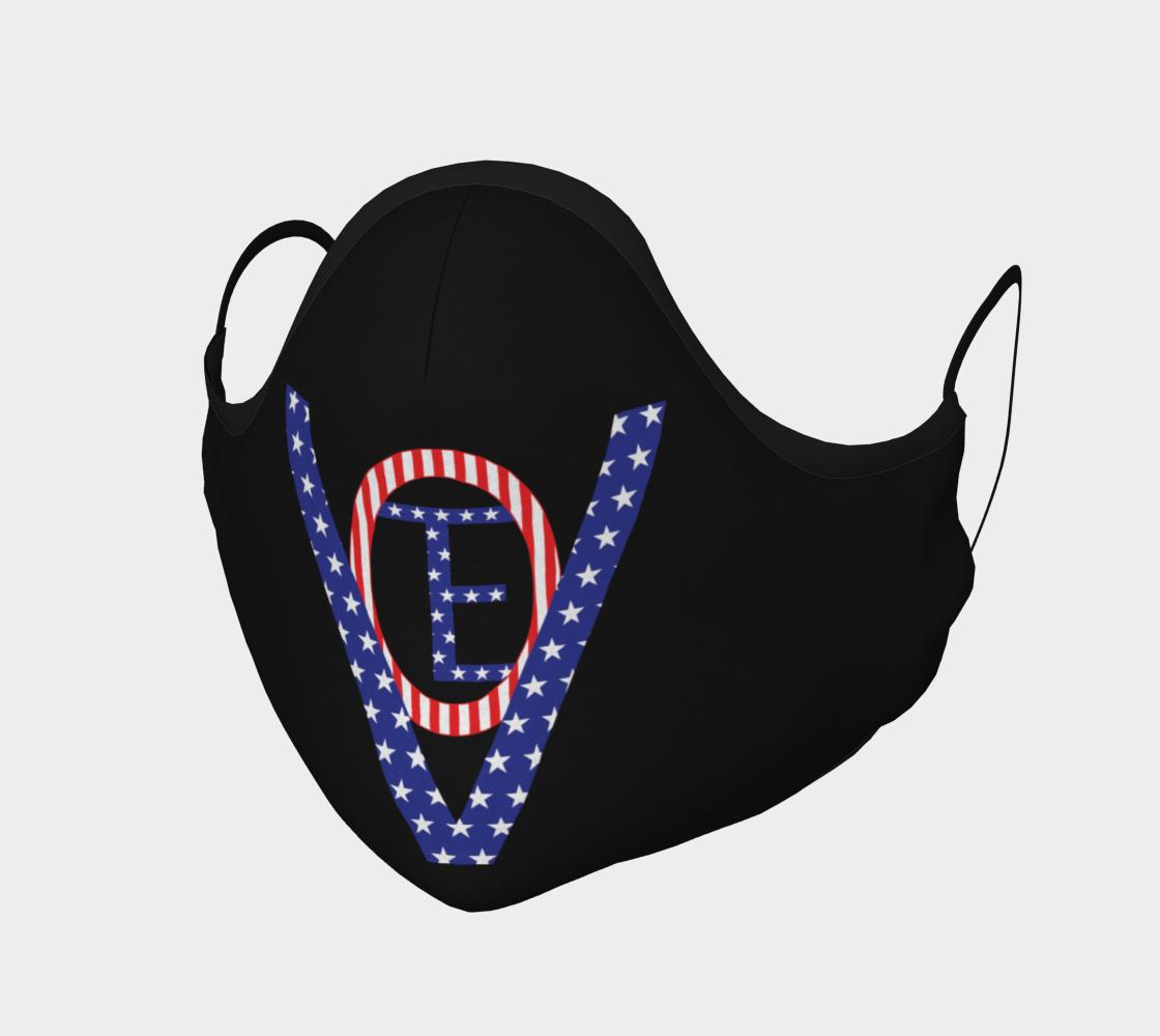 Vote Stars Stripes Mask on Black preview