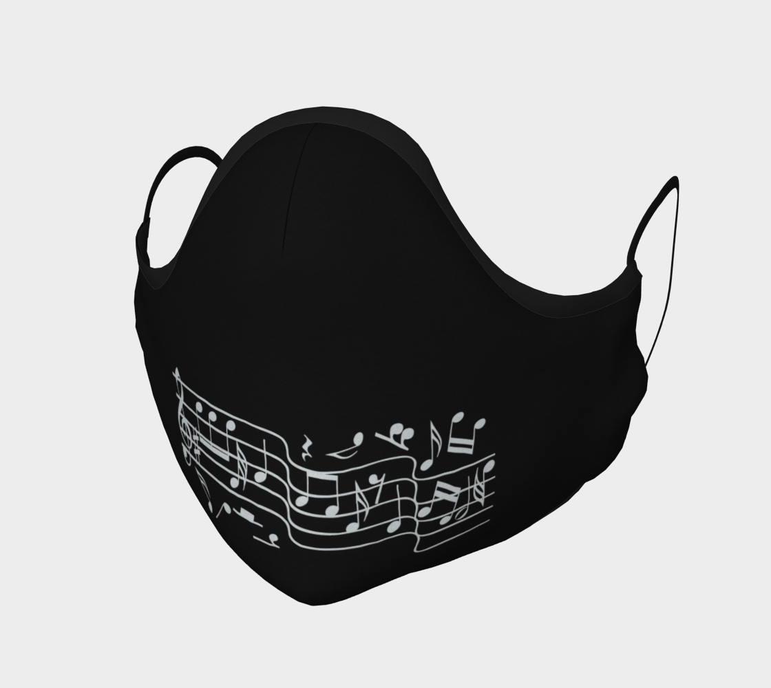 Music notes face mask preview