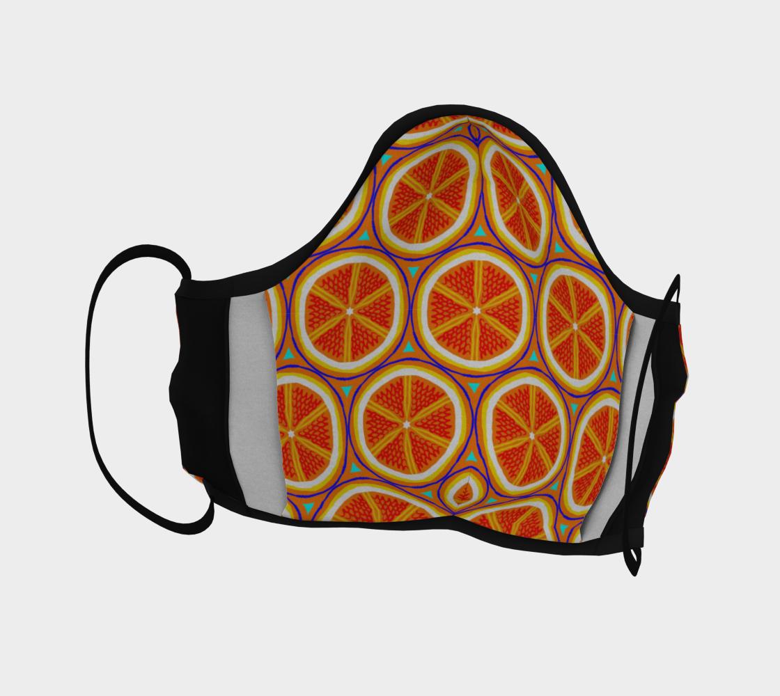 Bright Citrus Orange Slice Pattern preview #4