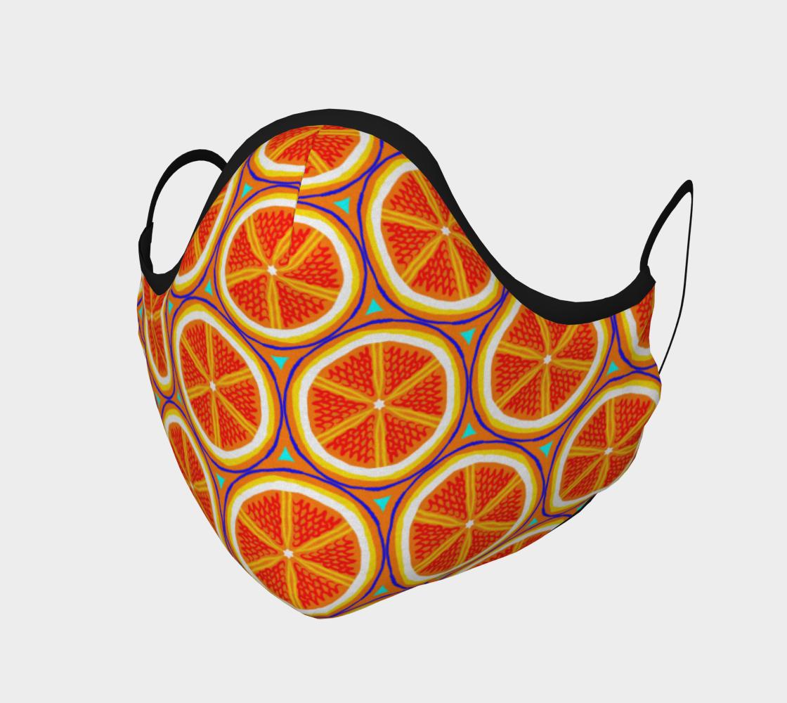 Bright Citrus Orange Slice Pattern preview