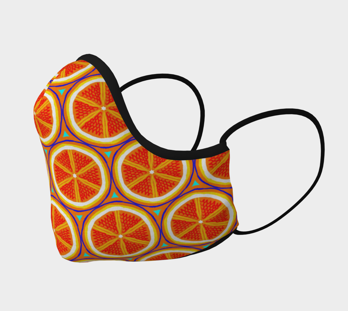 Bright Citrus Orange Slice Pattern preview #2