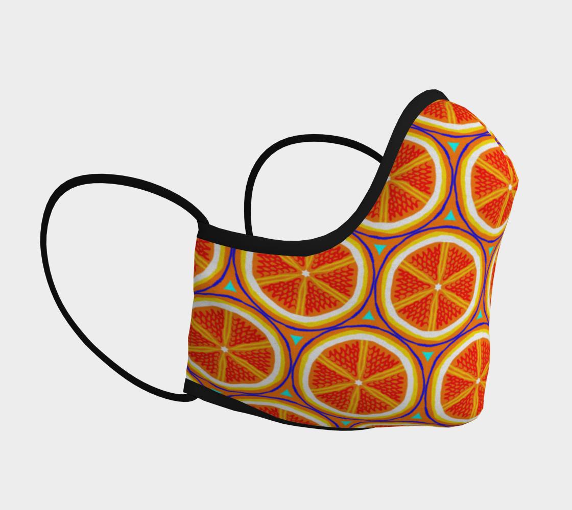 Bright Citrus Orange Slice Pattern preview #3