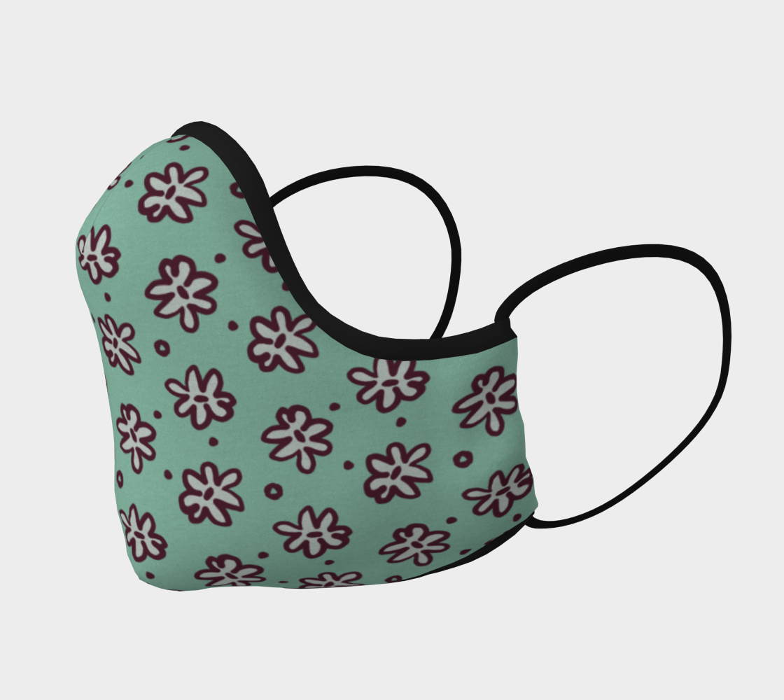 White Daisy Floral Print Pattern preview #2