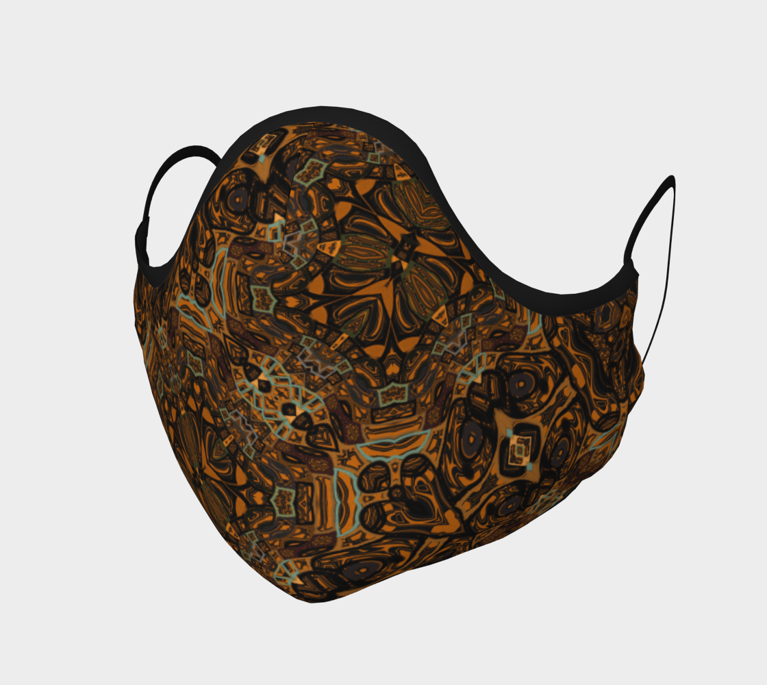 Aperçu de Boho Brown and Gold Pattern