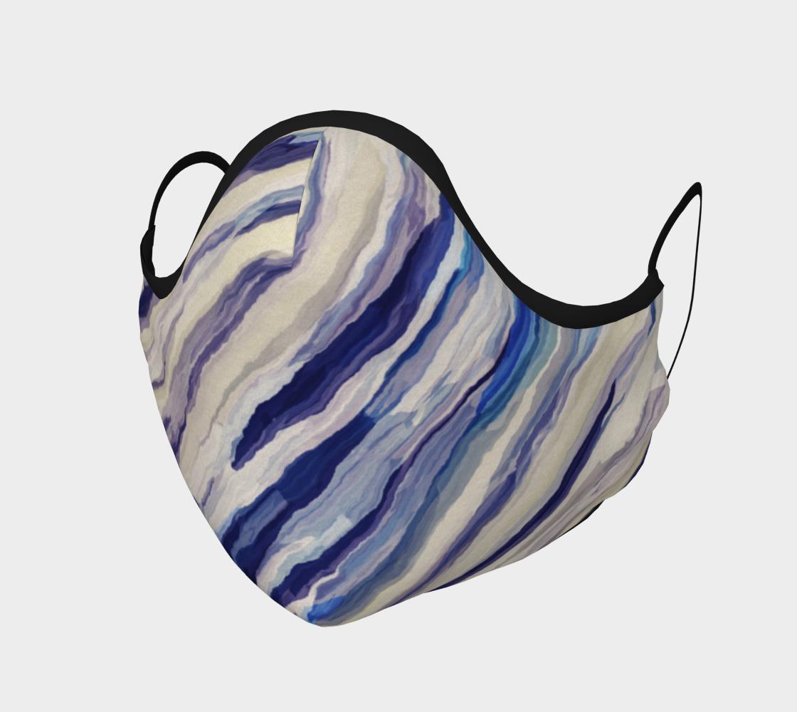 Aperçu de Blueberry Twist Blue Face Mask