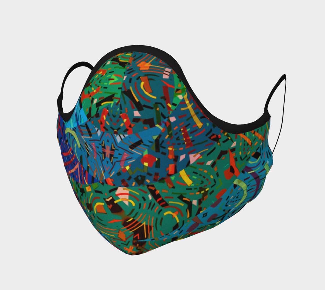 Aperçu de Colorful Art Collage Face Mask