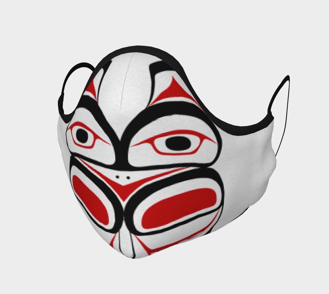 Tlingit Formline Northwest Art Red & Black Facemask  preview