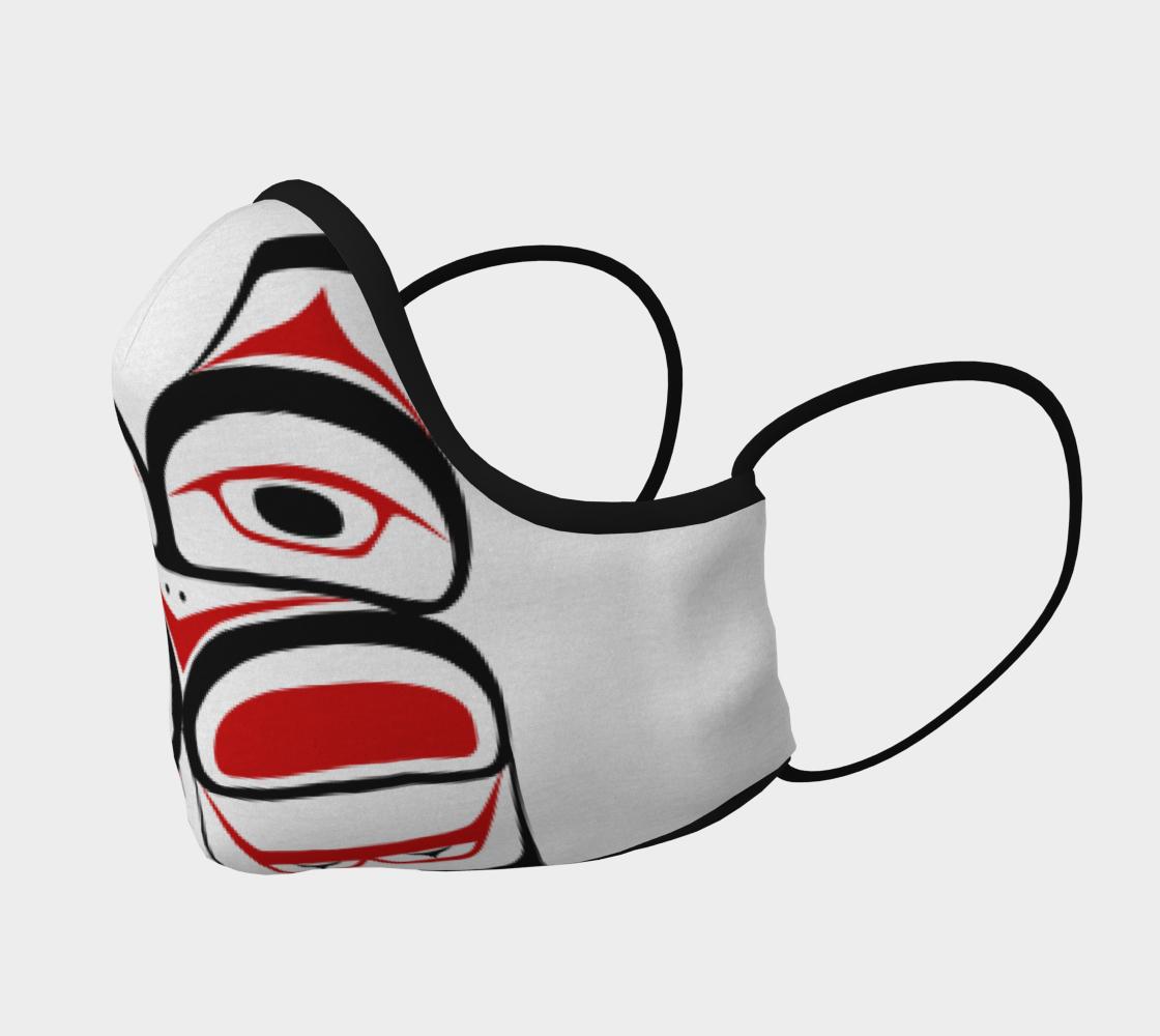 Tlingit Formline Northwest Art Red & Black Facemask  preview #2