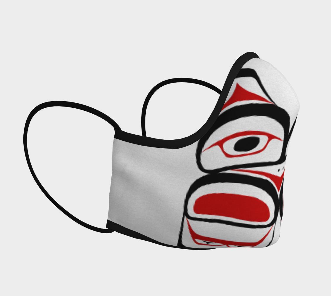 Tlingit Formline Northwest Art Red & Black Facemask  preview #3