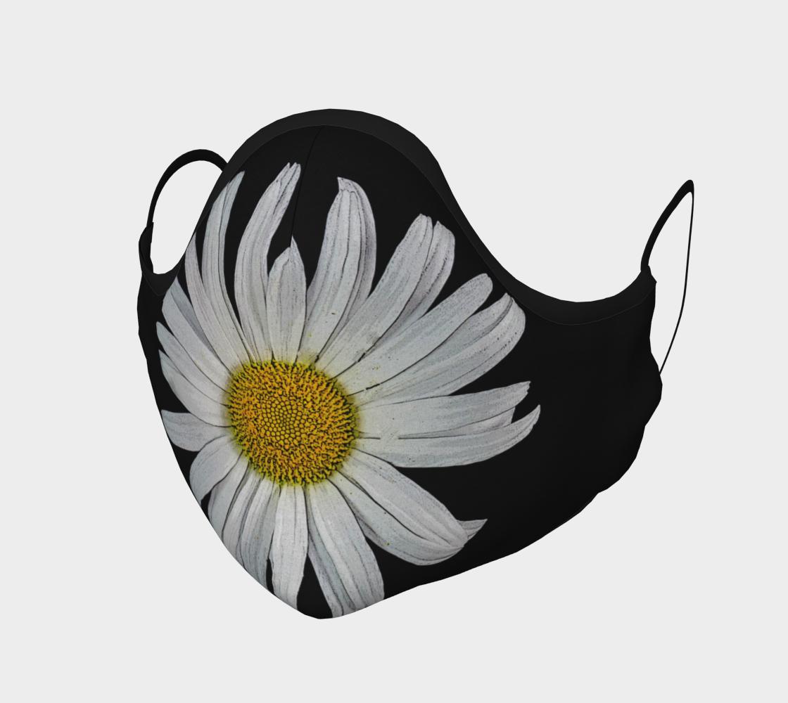 Aperçu de Daisy on Black Face Mask  #1